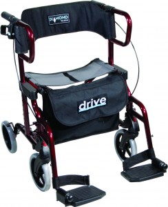 745 Diamond Deluxe Rollator Red